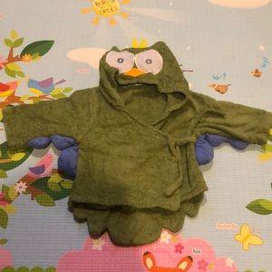 Baby Steps Owl Terrycloth Bathrobe (OS)